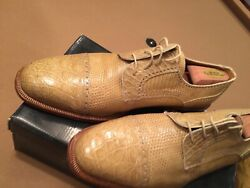 David Eden Mens Loafers 13 M Gold Crocodile Unit Sold Please See Other Items