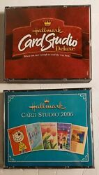 Hallmark Card Studio Deluxe Pc Cd-rom 2000 And 2006 Windows Greeting Card Software