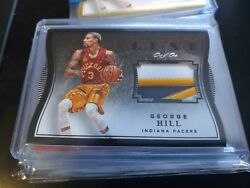 George Hill 15-16 Luxe 1/1 Black Die-cut Sick Patch One Of One Indiana Pacers