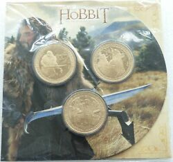 2013 New Zealand Post Unexpected Journey Hobbit 1 One Dollar 3 Coin Pack Sealed