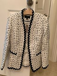 Nwt Women J.crew Going-out Blazer In Ivory Spotted Tweed 2