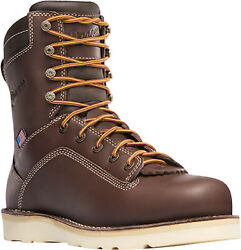 Danner Quarry Usa 8in Wedge Mens Brown Leather Gtx Work Boots 17327