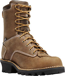 Danner Logger Mens Brown Leather 8in 400g Nmt Work Boots