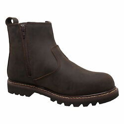 Adtec Mens Brown 6in Australian Ankle Boots Leather