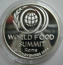 Romania 100 Lei 1996 Sliver Proof Coin World Food Summit-rome