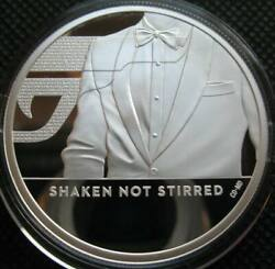 Great Britain Uk 5 Pounds 2020 Silver Proof 2oz Coin Shaken Not Stirred 007