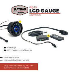 New Kayhan Audio Lcd Digital Gauge Automotive 52 Mm Universal