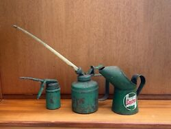 Job Lot Of 3 Vintage Castrol And Wesco Oil Cans