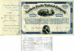 Northern Pacific Railroad Company Issued To And Signed By James C. Fargo - Stock