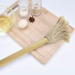 Cotton Bbq Mop Barbecue Brush Long Wood Handle Thread Mop Cotton Sauce Mop Food
