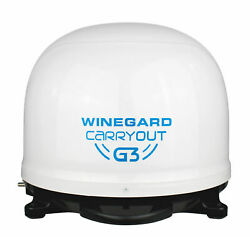 Winegard Carryout G3 Portable Automatic Satellite Tv Antenna, White Dome For Rvs