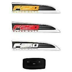 11-16 Ford F250 Illuminated Emblems 2-piece Kit Includes Driver And Passenger Si