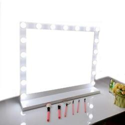 24''x 20'' 17 LED Vanity Mirror Hollywood Style Makeup Mirror 3 Light Settings