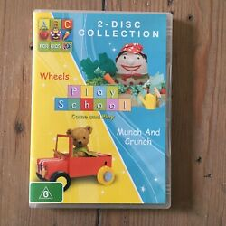 Play School 2x Dvds Wheels And Munch And Crunch Pal R4 Abc For Kids