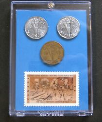 1939-1945 Ww Ll - The Italian Campaign War Stamp And 43 44 45 Victory Nickels