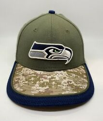 New Era Seattle Seahawks Cap Hat Fitted Child-youth Green Camo Polyester