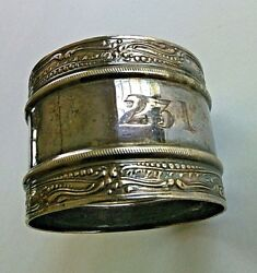 White Star Line Vintage Silver Napkin Ring Flag Titanicand039s Sister Ship Olympic