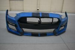 Oem 2019-2021 Ford Mustang Shelby Gt500 Front Bumper Cover Fascia Velocity Blue