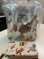 Disney Dooney And Bourke Winnie The Pooh Satchel Crossbody And Wallet New Nwt