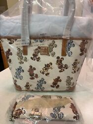 Disney Dooney And Bourke Animal Print Tote And Wallet Mickey Mouse Animal Kingdom