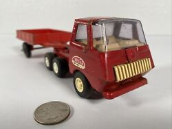 Vintage Tonka Car Carrier 635 Diecast Metal Toy Red 1970s Free Fast Shipping Sds