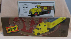 Lot Of 3 Vehicles, Kent Feeds Semi-truck And Stake Truck + Priarie Brand Seed Semi