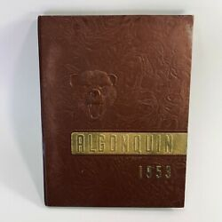 Vintage And03953 Algonquin Canton Ny Central School Yearbook Amazing Photos Drawings