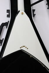 Jackson Rr5 Wht/bkbv Pointed Shape Electric Guitar Perfect Packing From Japan