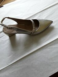 Anyi Lu Gigi Pump, Pointy Toe Womans Shoes In Silver, Size 35.5us 5.5