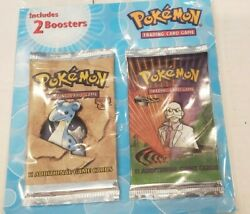 Vintage Pokemon Double Blister Bag FOSSIL and GYM CHALLENGE Booster Packs WOTC $1500.00