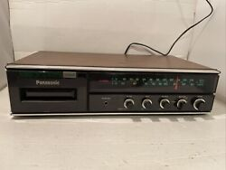 Vtg Panasonic Re-8174 Am Fm Stereo 8 Track Integrated Amplifier Working