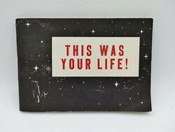 Vintage 1964 Jack T. Chick Rusthoi This Was Your Life Comic Tract Jtc Rare