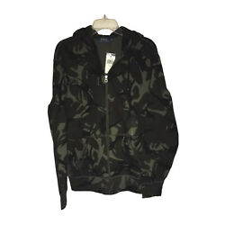 Polo Camo Zip Up Mens Hoodie Size Large