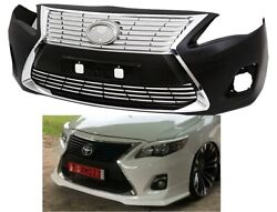 2011-2013 Toyota Corolla Front Bumper Lexus Es300 Style And Chrome Grills