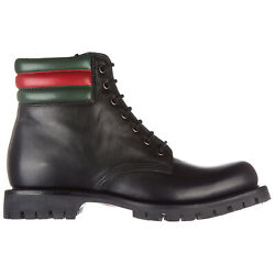 Ankle Boots Men 429220 Abma0 1064 Black H 0.78 Inch Leather Shoes