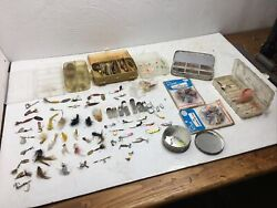 Vintage Antique Fishing Lure Tackle Lot Mixed Bag Lures