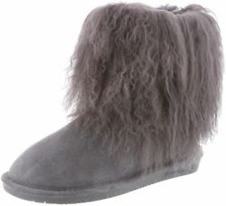 Bearpaw Casual Boots Womens Boo Tpr Rubber Sole Curly Lamb Wool 1854w