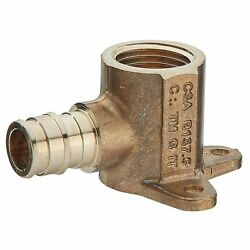 Watts 3/4 Brass Drop Ear Elbow, F1960 Inlet With 3/4 Fpt Outlet - 10 Pack