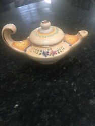 Vintage Signed/numbered Italy By Veneto Flair Aladdin's Lamp, Hand Made 1980
