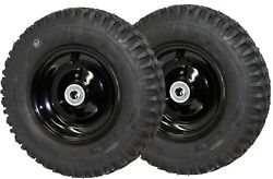 2x Cheng Shin 4.10-6 Tire And Wheel Assembly - 5/8 Ch 2 3/8 Bore