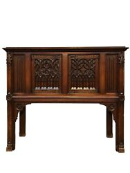 Nicely Sized French Gothic Server / Console 19th Century Oak
