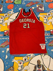 Dominique Wilkins Georgia Bulldogs Basketball Jersey Size 58 Vintge Vtg Red Used