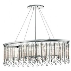 Kichler Lighting 43725ch Piper Collection Contemporary Oval Chandelier In Chrome