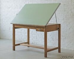 Vintage/antique Drafting Table Excellent Conditionandnbspsolid Oak 37 X 60 X 37