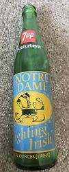 Notre Dame Fighting Irish 1973 National Champs 7 Up Commemorative Bottle