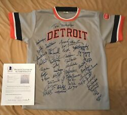 Beckett 1984 World Champion Detroit Tigers 25th Jersey Signed By 45 Autographed