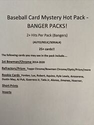 Baseball Card Hot Mystery Pack - 2 Hits Per Pack Auto/relic/serial 25+ Cards