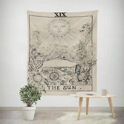 The Sun Tarot Hippie Wall Tapestry Hanging Throw Cover Home Room Decoration