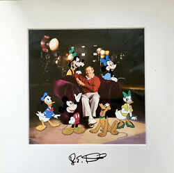 Disney Animation Cel Signed Roy Disney And Friends Mickey Mouse Rare Cell Art