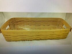 Longaberger Hostess Serving Tray With Protector - Be